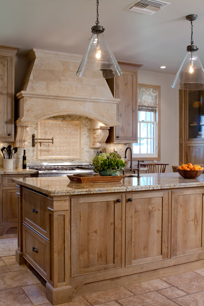 French colonial in pasadena charmean neithart interiors for Bleached wood kitchen cabinets