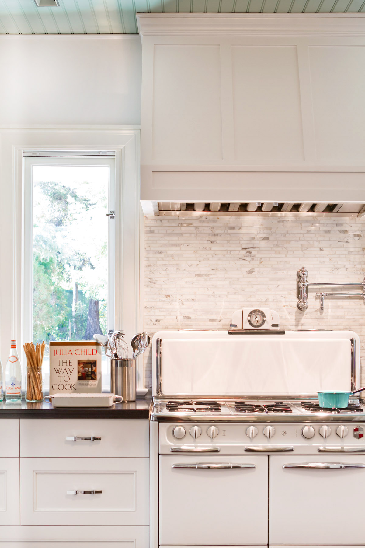 Complete Renovation Of Kitchen In A Historically Significant Colonial In  Pasadena, CA. Kitchen Features A Vintage Wedgewood Stove From The 50u0027s,  Cork Floor, ...